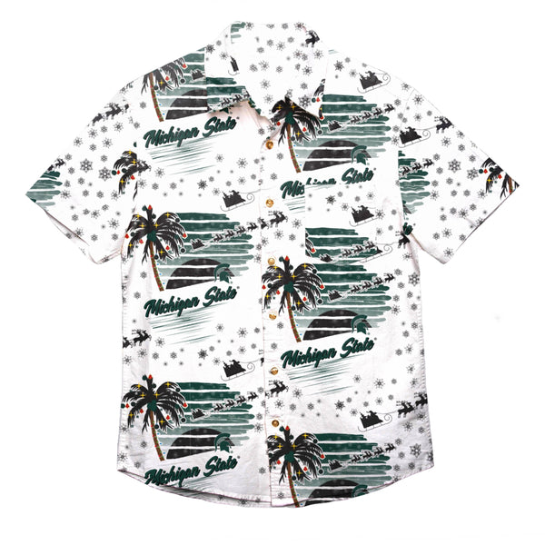 1ed9ced8 Michigan State Spartans NCAA Mens Winter Tropical Button Up Shirt