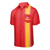 Kansas City Chiefs NFL Mens Bowling Stripe Button Up Shirt