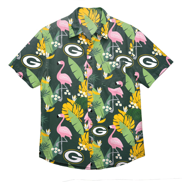 4f42e2dd Green Bay Packers NFL Mens Floral Button Up Shirt