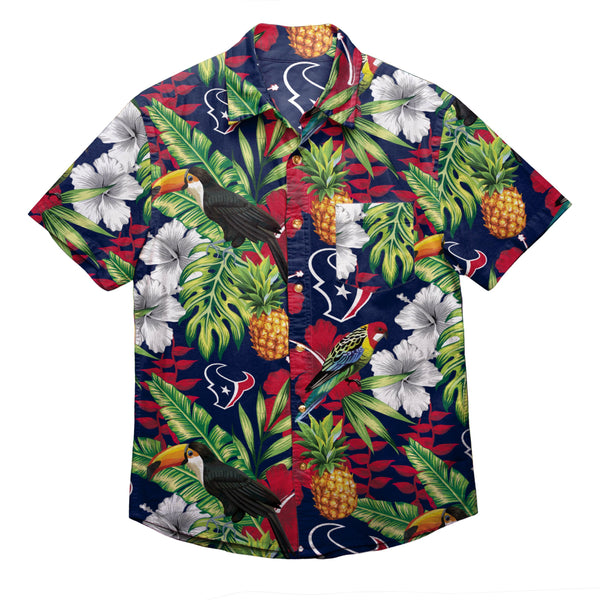 Houston Texans NFL Mens Floral Button Up Shirt b21bc0b25