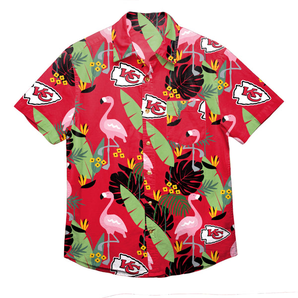 53195254264 Kansas City Chiefs NFL Mens Floral Button Up Shirt