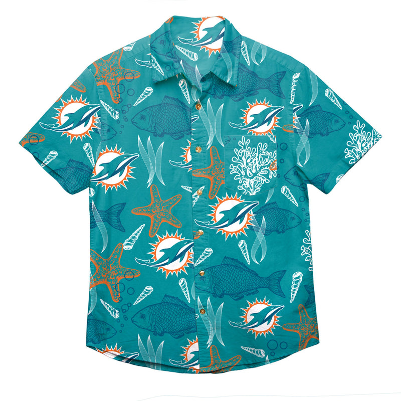 7d1406d4527 Miami Dolphins NFL Mens Floral Button Up Shirt (PREORDER - SHIPS IN MA
