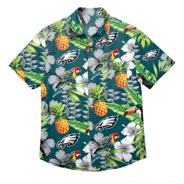b4e072ce6db5 Philadelphia Eagles NFL Mens Floral Button Up Shirt (PREORDER - SHIPS IN  AUGUST)