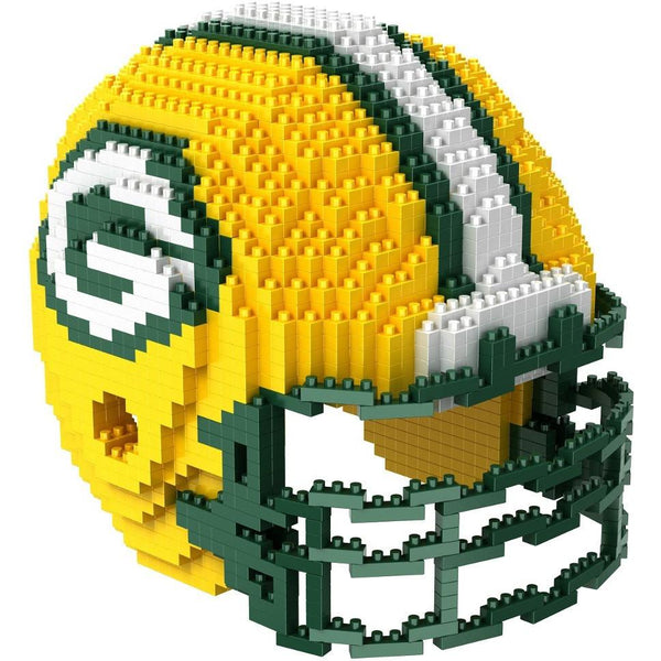 Green Bay Packers NFL 3D BRXLZ Puzzle Helmet Set (PRE ORDER - Delivered By 12-19)
