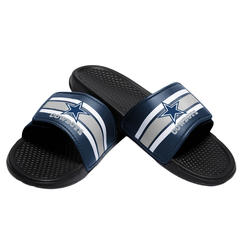 457c56a83fb Dallas Cowboys NFL Mens Stripe Legacy Sport Slides