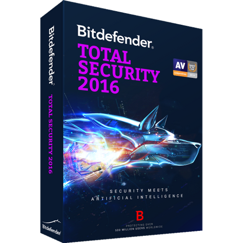 Bitdefender Total Security 2016 - 1-Year / 1-PC