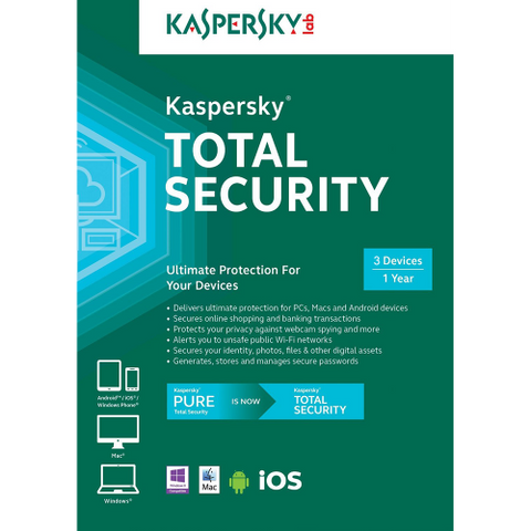Kaspersky Total Security 2016 - 1-Year / 3-Devices - North America