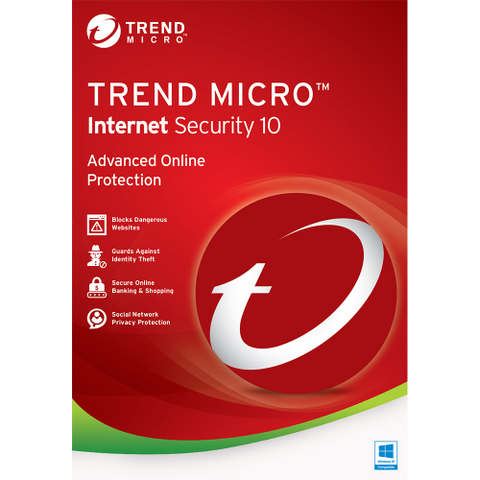 Trend Micro Internet Security 10 (2016) - 1-Year / 1-PC - OEM ESD
