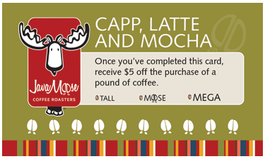 PrePAID Specialty Coffee Card