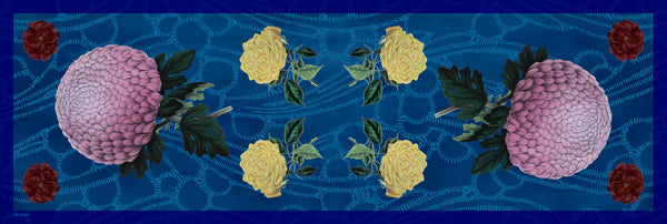 The-Blue-Dhalia-Silk-Scarf-flower-rectangular-65X200 cm-full-view