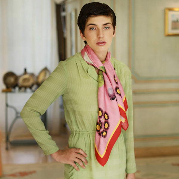 The-Pink-Camelia-Silk-Scarf - square-carre-90x90-campaign10