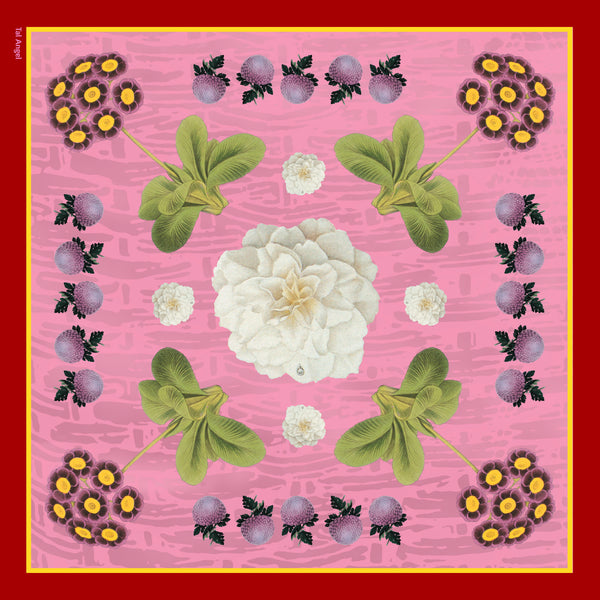 The-Pink-Camelia-Silk-Scarf - square-carre-90x90-full-view