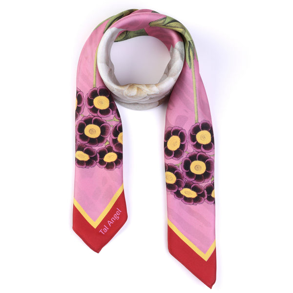 The Pink Camellia Silk Scarf