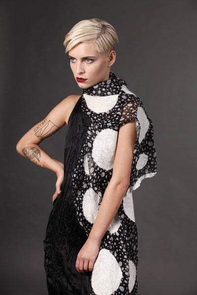 The-Polka-Dot-Felted-Shawl-silk-marino-wool-scarf-white-black-2016-studio-packshot