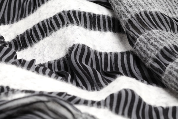 The-Striped-Felted-Shawl-silk-marino-wool-scarf-white-black-grey-2016-packshot-closeup-view