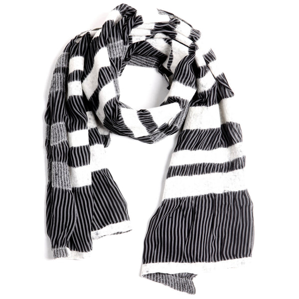 The-Striped-Felted-Shawl-silk-marino-wool-scarf-white-black-grey-2016-packshot