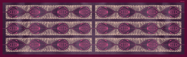 The-Violet-Belle-Époque-Silk-Scarf-pink-rectangular-Tal Angel-65X220 cm-full-view
