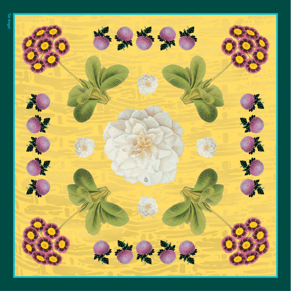 The-Yellow-Camelia-Silk-Scarf - square-carre-90x90-full-view