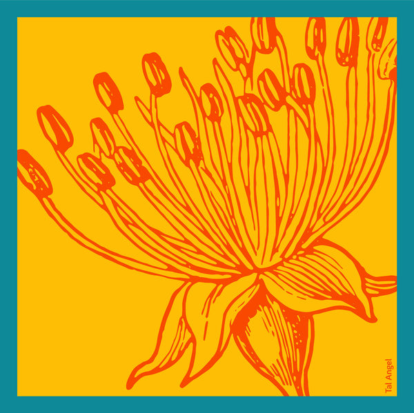 The-Yellow-Flower-Handkerchief-silk-square-orange-blue-45x45-full-view