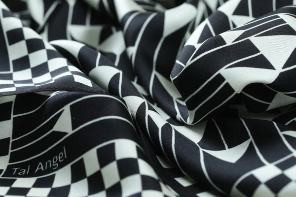The Black Triangles Silk Scarf