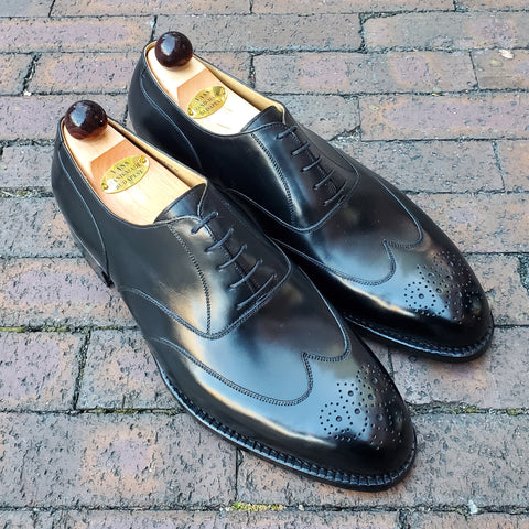 Austerity Brogue Medallion - Black Calf