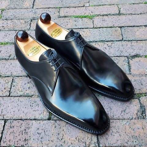 3 Eyelet Derby - Black Calf