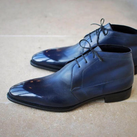 Paco - Dark Blue Patina Calf