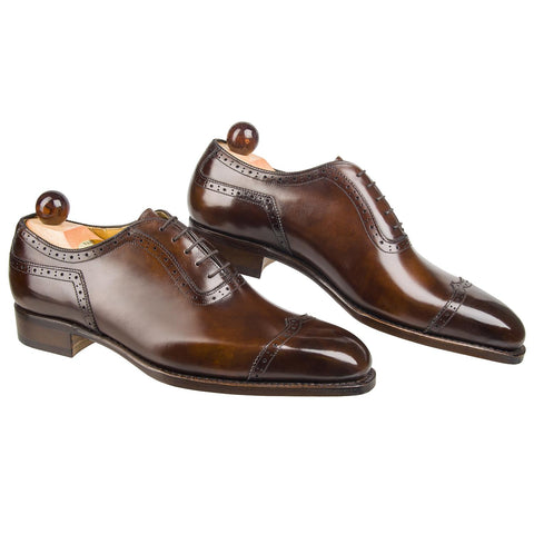 V-Cap Italian Oxford - Walnut Museum Calf