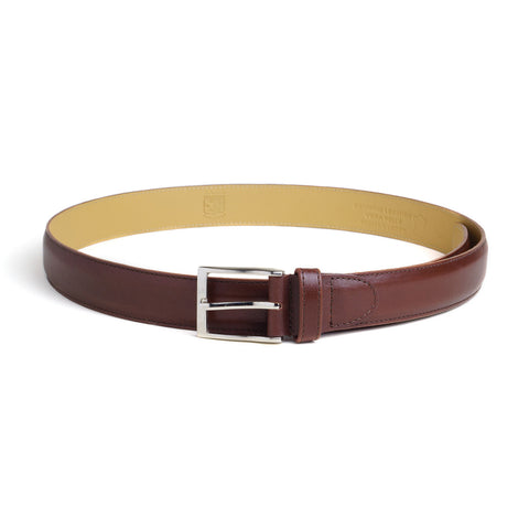 Leather Belt - Dark Cognac Calf