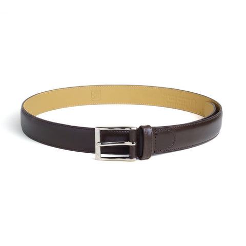 Leather Belt - Dark Brown Calf