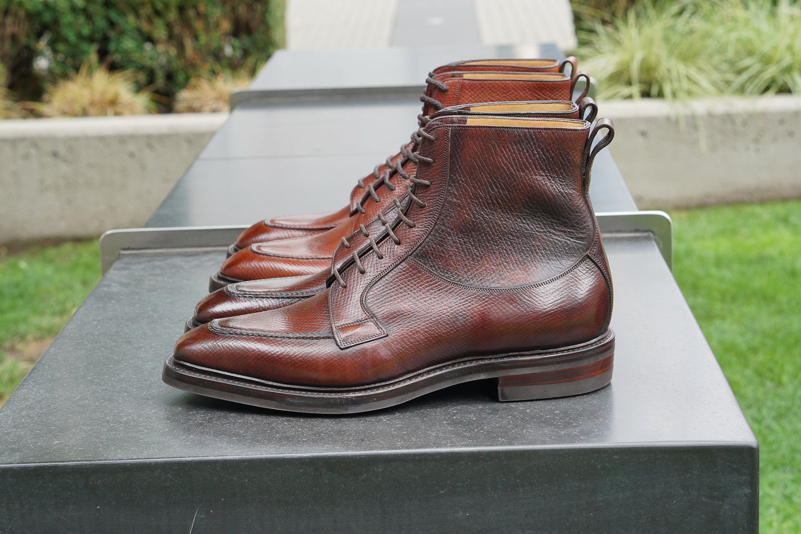 Gaziano & Girling Oak Tan Chestnut Horween Russia Hatchgrain Hatch Grain Thorpe Boots