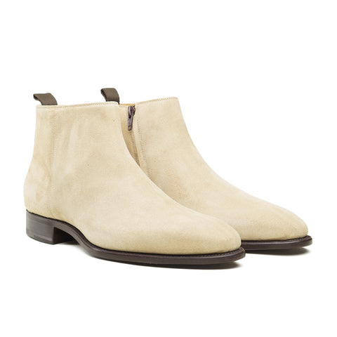 Style 9584 Side Zip Boot - Capuccino Suede