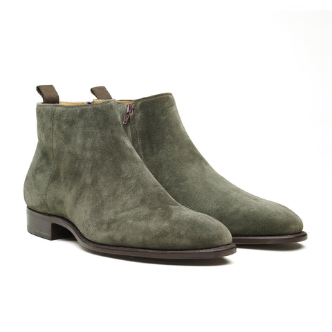 Style 9584 Side Zip Boot - Loden Suede