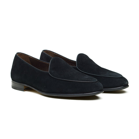 4950 Belgian Loafer - Negro (Black) Repello Suede