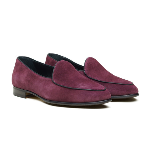4950 Belgian Loafer - Maroon Repello Suede
