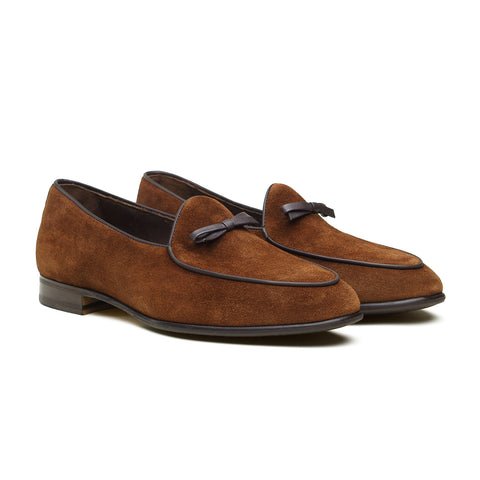 5210 Belgian Loafer - Polo Brown Repello Suede