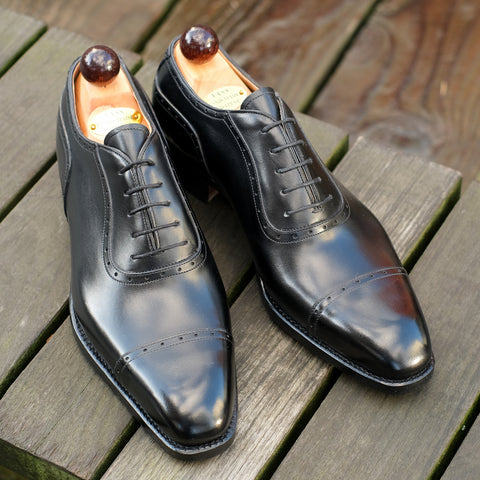 Italian Oxford - Black Calf