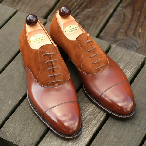Old English - Antique Cognac Calf / Deer Brown Suede