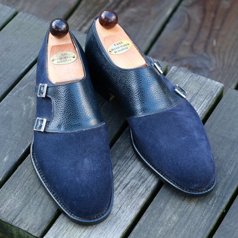 Double Monk - Blue Suede / Scotchgrain