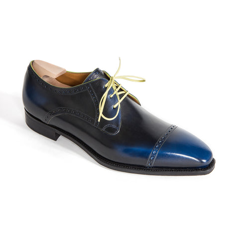 Ike - Dark Blue Calf Patina