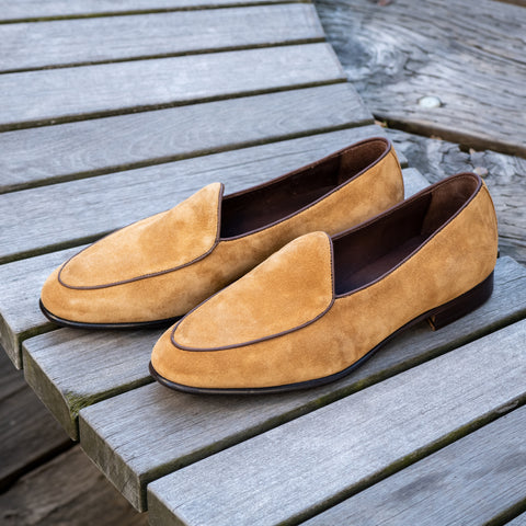 4950 Belgian Loafer - Rame Florence Suede