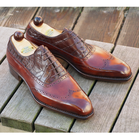Balmoral Oxford - Gold Museum / Brown Caiman