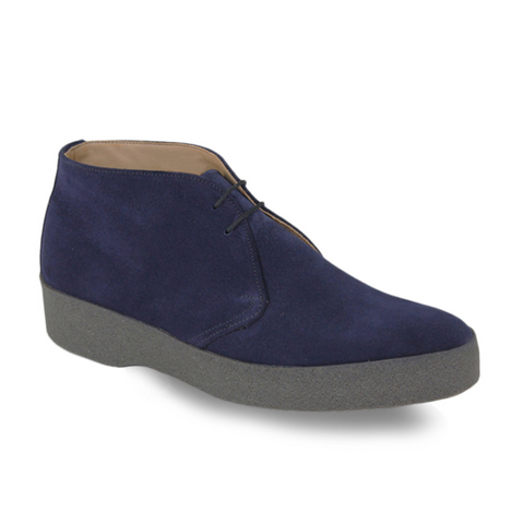 Hi Top - Navy Suede