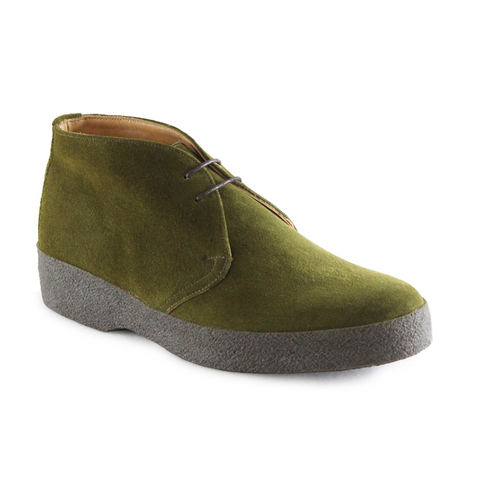 Hi Top - Moss Green Suede