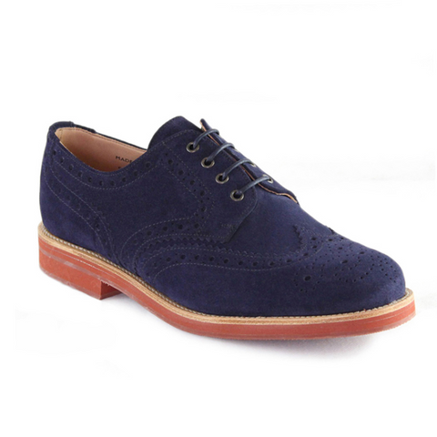 Theo - Navy Suede