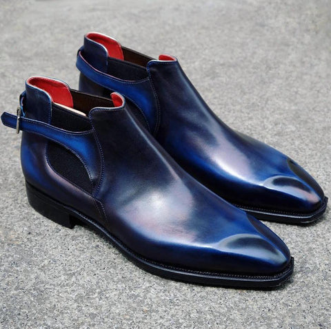 Bernay - Blue Calf Patina
