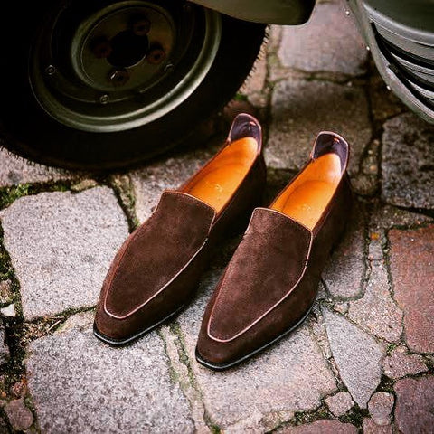 Brighton - Dark Brown Suede