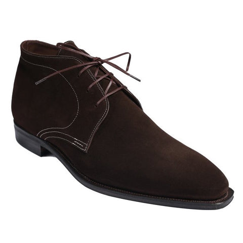 Chukka - Dark Brown Suede White Stitching