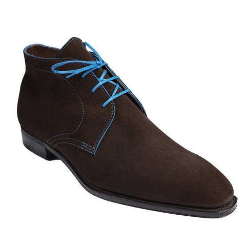 Chukka - Dark Brown Suede Blue Stitching