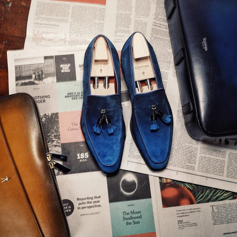 Dover Tassel - Electric Blue Suede